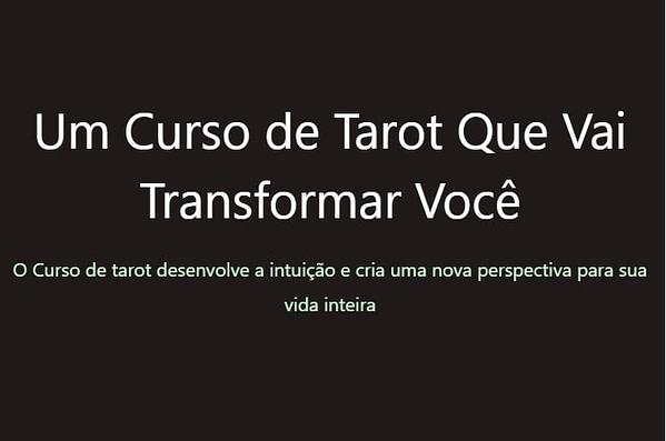 curso the tarot